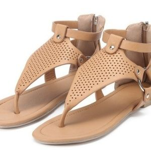 Shoes - Women's Tan Gladiator Sandals